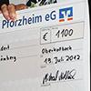 1100 Euro - Spendenscheck