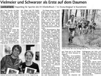 Schwabo-Zeitungsartikel zum Doma-Berglauf